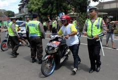 indonesisk polis Royaltyfri Fotografi