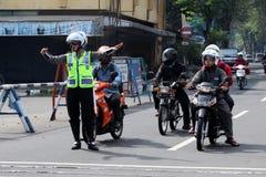indonesisk polis Arkivfoto