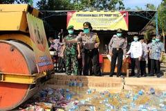 indonesisk polis Royaltyfria Foton