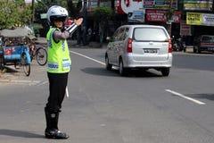 indonesisk polis Arkivbild