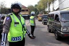 indonesisk polis Arkivbilder