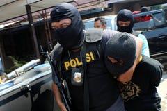 indonesisk polis Royaltyfria Bilder