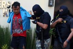 indonesisk polis fotografering för bildbyråer