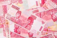 indonesisk rupiah Arkivbilder