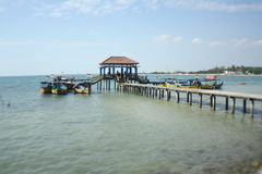 Indonesisk strand Arkivbild