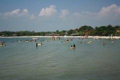 Indonesisk strand Arkivfoto