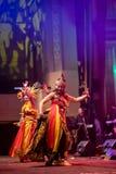 Indonesisk traditionell dans från Java Arkivbilder