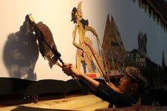 Indonesiska barns Dalang Wayang Arkivfoton