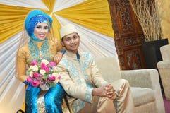 Indonesiska brud- par Arkivfoton