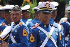 Indonesiska militära armékadetter i likformig Royaltyfri Foto