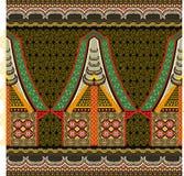 Indonesiskt batikmotiv Arkivbild