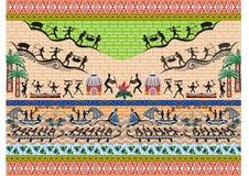 Indonesiskt batikmotiv Arkivfoton