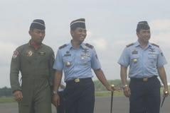 INDONESISKT FLYGVAPEN SOM TILLFOGAR FLYGTRANSPORT Arkivfoton