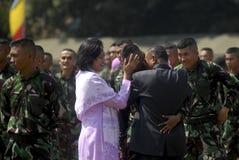 INDONESISKT MILITÄRT OMSTRUKTURERINGSPLAN FÖR TNI Royaltyfri Bild