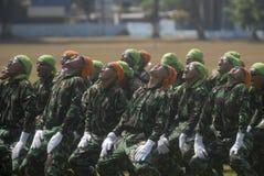 INDONESISKT MILITÄRT OMSTRUKTURERINGSPLAN FÖR TNI Arkivbilder