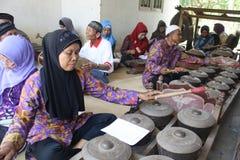 Indonesiskt traditionellt musikinstrument Fotografering för Bildbyråer