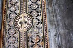 Indonezja Bali bramy Świątynny szczegół, Besakih Zdjęcia Stock
