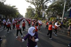 INDONEZJA DENNYCH gier SKROMNY cel Zdjęcia Royalty Free