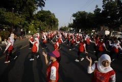 INDONEZJA DENNYCH gier SKROMNY cel Fotografia Stock