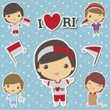 INDONEZJA dzień niepodległości Obrazy Stock