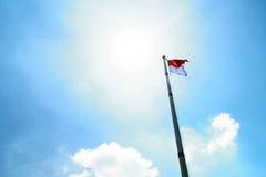 Indonezja flaga Zdjęcie Royalty Free