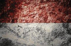 Indonezja flaga na kamiennym tle royalty ilustracja