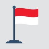 Indonezja flaga odizolowywająca na białym tle Zdjęcia Stock