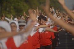 INDONEZJA gier azjatyckich gospodarza wyzwanie Fotografia Royalty Free