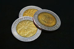 Indonezja Golds moneta Zdjęcia Royalty Free
