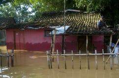 INDONEZJA monsunu szczyt NA LUTY Zdjęcia Stock