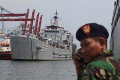 Indonezja okręt wojenny Fotografia Stock