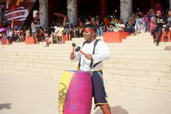 Indonezja Perkusja muzyczny występ podczas chińskiego nowego roku świętowania Zdjęcia Royalty Free