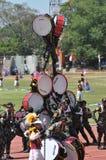 Indonezja polici orkiestra marsszowa Zdjęcia Stock