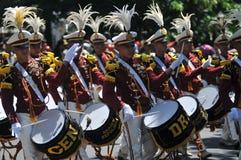 Indonezja polici orkiestra marsszowa Zdjęcie Stock
