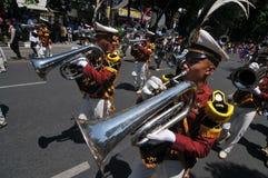 Indonezja polici orkiestra marsszowa Zdjęcie Royalty Free