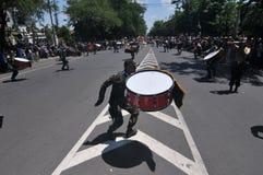 Indonezja polici orkiestra marsszowa Obraz Stock