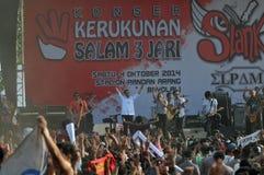 Indonezja polityka - koncert świętować zwycięstwo Joko Widodo jako elekt Obrazy Royalty Free
