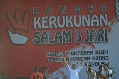 Indonezja polityka - koncert świętować zwycięstwo Joko Widodo jako elekt Zdjęcie Stock