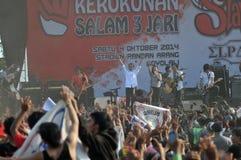 Indonezja polityka - koncert świętować zwycięstwo Joko Widodo jako elekt Fotografia Stock