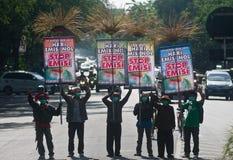 INDONEZJA problemy ochrony środowiska Zdjęcie Stock