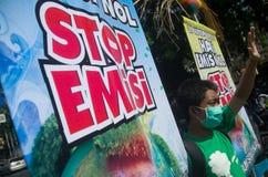 INDONEZJA problemy ochrony środowiska Zdjęcia Stock