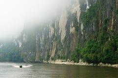 Indonezja - Tropikalny krajobraz na rzece, Borneo Obrazy Royalty Free