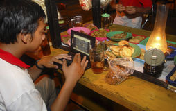 INDONEZJA turystyki wizyty spadek Obrazy Royalty Free