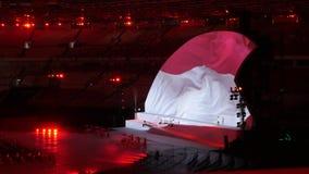 Indonezyjczyk flaga zdjęcie stock