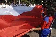 INDONEZYJCZYK flaga Obrazy Stock