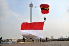 INDONEZYJCZYK flaga Zdjęcia Stock