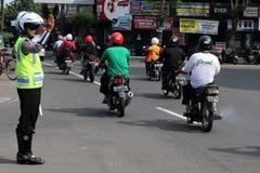 indonezyjczyk policja Zdjęcia Royalty Free