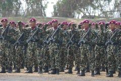 INDONEZYJSCY korpusy piechoty morskiej Zdjęcie Royalty Free