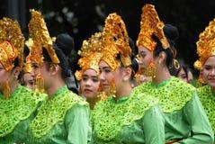 Indonezyjscy wykonawcy przy Folkmoot usa zdjęcia royalty free