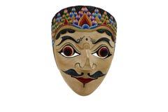 Indonezyjska maska, topeng, maschera na białym tle fotografia royalty free